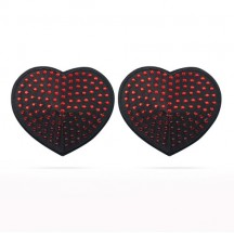 Пэстисы для груди Reusable Red Diamond Heart Nipple Pasties