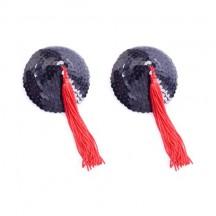 Черно-красные пэстисы с пайетками