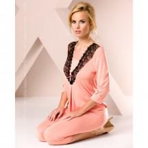 Ночная пижама персикового цвета L