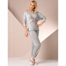Ночная пижама серого цвета L