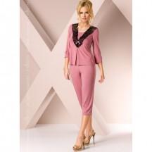Ночная пижама розового цвета L