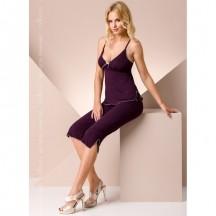 Ночная пижама фиолетового цвета M