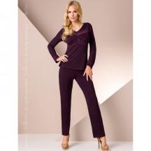 Ночная пижама темно-фиолетового цвета M