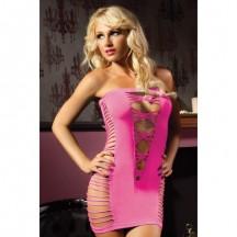 Розовое платье-бандо