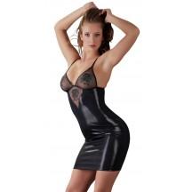 Черное платье с вышивкой S