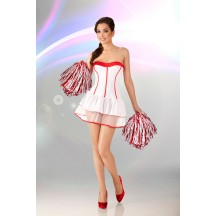 Белое платье Cheerleader L/XL