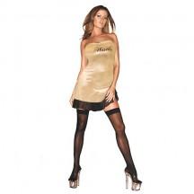 Золотое платье с надписью Hustler SM