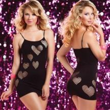 Черное бесшовное платье сердцеедки