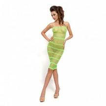Прозрачное сексуальное платье зеленого цвета BS033