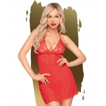 Красное платье-сорочка и трусики-стринги Penthouse Bedtime story M/L