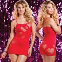 Красное бесшовное платье сердцеедки