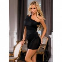 Платье с открытым плечом черное OS