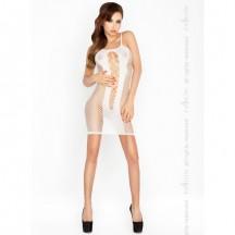 Соблазнительное платье в сеточку белое
