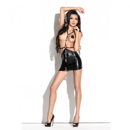 Откровенное черное платье Roxana Queen of hearts L/XL