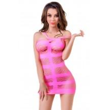Розовое платье-сетка Joli Miami S/M