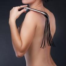Плеть гладкая бронзовая с жесткой рукоятью