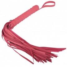 Мягкая плеть-флоггер красного цвета