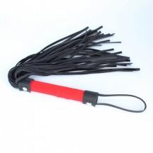 Черная плеть с красной рукоятью
