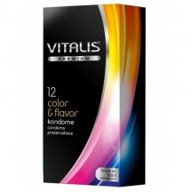 Презервативы Vitalis Premium №12 Color & Flavor - цветные / ароматизированные