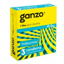 Презервативы Ganzo №3 Ribs ребристые