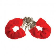 Меховые красные наручники Variations