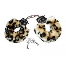 Наручники с мехом леопардовые Hand schellen