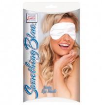 Белая маска на глаза с лентами из органзы