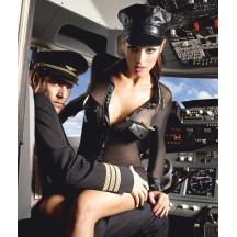 Сексуальный женский костюм пилота S/M