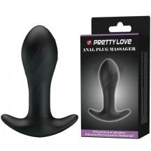 Анальная пробка для ношения с вибрацией Pretty Love Anal Plug Massager черная
