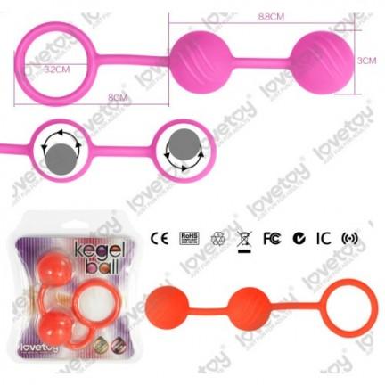 Вагинальные шарики Kegel ball розовые
