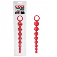 Рельефная цепь Colt из красного силикона