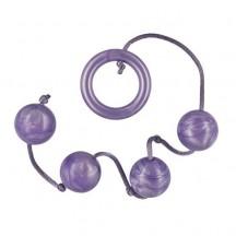 Анальная цепочка Acrylite Beads Purple Medium