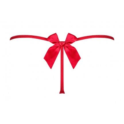 Миниатюрные красные стринги с бантиком на попе Giftella S/M