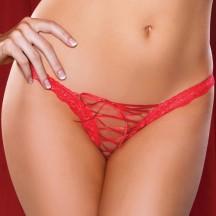 Трусики женские со шнуровкой Roxy красные