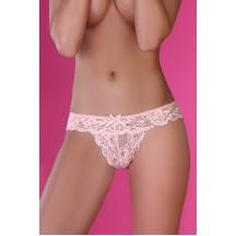 Ажурные трусики розово-пудрового цвета Rati L/XL
