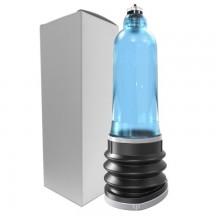 Гидропомпа для пениса K20 голубая