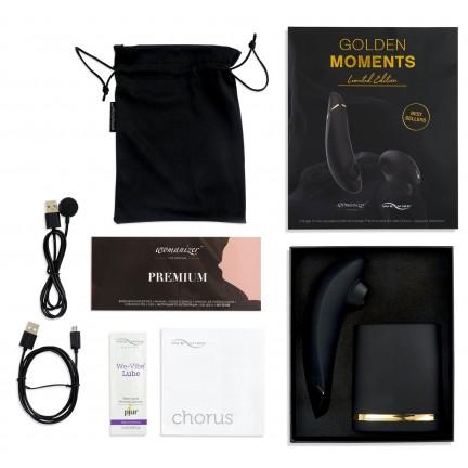 Набор стимуляторов для пар Golden Moments Wonamizer Premium + We-Vibe Chorus, золотистый