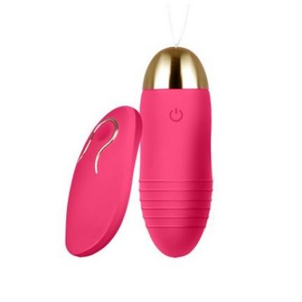 Перезаряжаемое виброяйцо с беспроводным управлением розовое