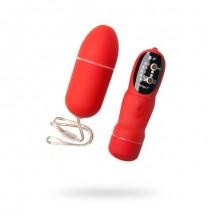 Красное виброяйцо с пультом дистанционного управления и 5 режимами вибрации