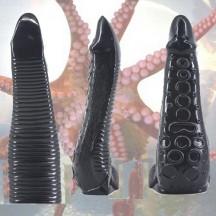 Черный фаллоимитатор Щупальце кальмара